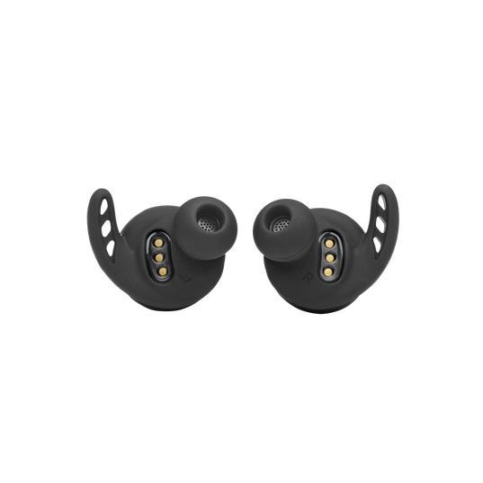 UA Project Rock True Wireless X - Engineered by JBL - Black - In-Ear Sport Headphones - Detailshot 1
