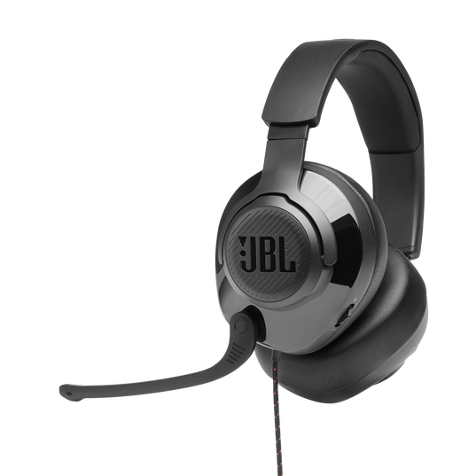 JBL Quantum 300 - Black - Hybrid wired over-ear PC gaming headset with flip-up mic