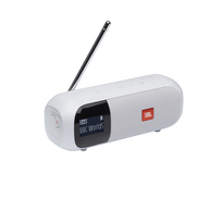 JBL Tuner 2 - White - Portable DAB/DAB+/FM radio with Bluetooth - Hero