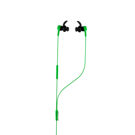Synchros Reflect-I - Green - Workout-ready, in-ear sport headphones for iOS devices - Hero
